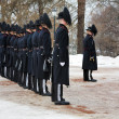 Norwegian Royal Guards near the Royal Palace in Oslo - Stock Photo