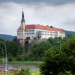 Castle in the town Decin, Czech Republic — Stock Photo
