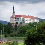 Castle in the town Decin, Czech Republic — Stock Photo