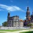 Monument to King John, Church and Dresden Castle — Stock Photo #15733287