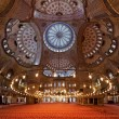 Interior of the Sultanahmet Mosque in Istanbul — Stock Photo