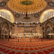 Interior of the Suleymaniye Mosque in Istanbul — Stock Photo #15733443