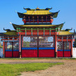 Gates of the Ivolginsky Datsan, Buryatia - Stock Photo