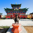 Temple of the Pure Land in the Ivolginsky Datsan, Buryatia - Stock Photo