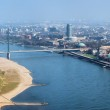 View on Dusseldorf from Rheinturm TV tower — Stock Photo #15733731