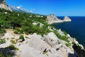 View on mountain Ai-Petri and town Simeiz — Stock Photo