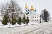 View of the Sofia-Uspensky Cathedral in Tobolsk Kremlin — Stock Photo