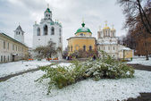 Belfry, Church and Cathedral in Yaroslavl — Stock Photo