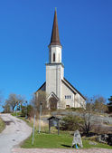 Protestant church in Hanko, Finland — Stock Photo