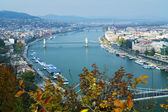 View on Budapest and Danube — Stock Photo
