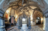 Interior of the Sedlec ossuary (Kostnice), Czech Republic — Stock Photo