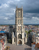 Saint Bavo Cathedral in Ghent, Belgium — Stock Photo