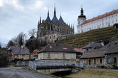 Church of St. Barbara and Jesuit College in Kutna Hora — 图库照片