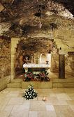 Grotta della vergine maria, nazaret — Foto Stock