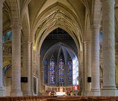 Interior of the Notre-Dame Cathedral in Luxembourg — ストック写真