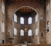 Interior of the Basilica of Constantine in Trier, Germany — 图库照片