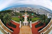View of Haifa, Bahai Gardens and Shrine of the Bab — Stock Photo