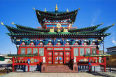Temple of the Pure Land in the Ivolginsky Datsan, Buryatia — Stock Photo