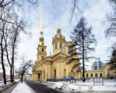 Peter and Paul Cathedral, St. Petersburg, Russia — Stock Photo