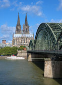 View on Cologne Cathedral and Hohenzollern Bridge — Stock Photo