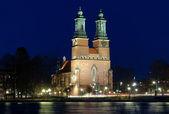 Night view on Cloisters Church (Klosters kyrka) in Eskilstuna — Stock Photo
