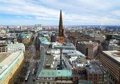 View of Hamburg and St. Jacobi church — Stock Photo