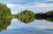 Lesnoe Lake on Bolshoy Solovetsky Island, Russia — Stock Photo