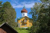 Wosnesenka kirche-leuchtturm, solowezki-inseln, russland — Stockfoto