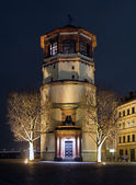Schlossturm in night illumination, Dusseldorf — Stock Photo