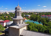 Tomsk wooden kremlin and view on Tomsk, Russia — Stock Photo