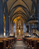 Interior of St. Lambertus Basilica in Dusseldorf — Stock Photo