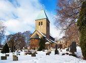 Gamle aker kirke - nejstarší kostel v oslu — Stock fotografie