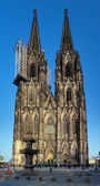 Facade of Cologne Cathedral, Germany — Stock Photo