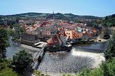 Zobacz w český krumlov, republika czeska — Zdjęcie stockowe