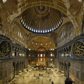Interior of the Hagia Sophia in Istanbul — Stock Photo