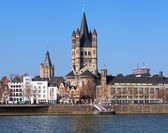 View on Great St. Martin Church in Cologne — Stock Photo
