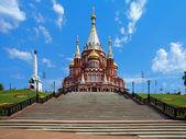 Catedral de san miguel en izhevsk, rusia — Foto de Stock