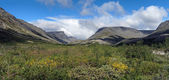 Valley along the Pachvumchorr range in Khibiny Mountains — Stock Photo