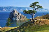 Tree of desires on Lake Baikal — Stock Photo
