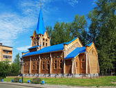 Wooden lutheran church in Tomsk, Russia — Stock Photo