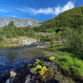 Risjok river in Khibiny Mountains, Russia — Stock Photo