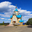 Wooden Church of Theodor Icon of Mother of God in Kirov — Stockfoto