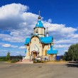 Wooden Church of Theodor Icon of Mother of God in Kirov — ストック写真