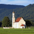 Church of St. Coloman in Schwangau, Bavaria, Germany — Stock Photo #15762477