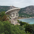 Stock Photo: Radiotelescope of Simeiz Observatory in Crimea