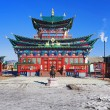 Temple of the Pure Land in the Ivolginsky Datsan, Russia - Stock Photo