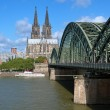 View on Cologne Cathedral and Hohenzollern Bridge — Stock Photo #15763319