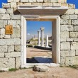 Ruins of ancient greek colony Khersones in Sevastopol, Crimea — Stock Photo