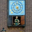 Clock with figure of Schneider Wibbel in Dusseldorf — Stockfoto #15763647