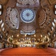 Interior of the Sultanahmet Mosque in Istanbul — Stock Photo #15763967